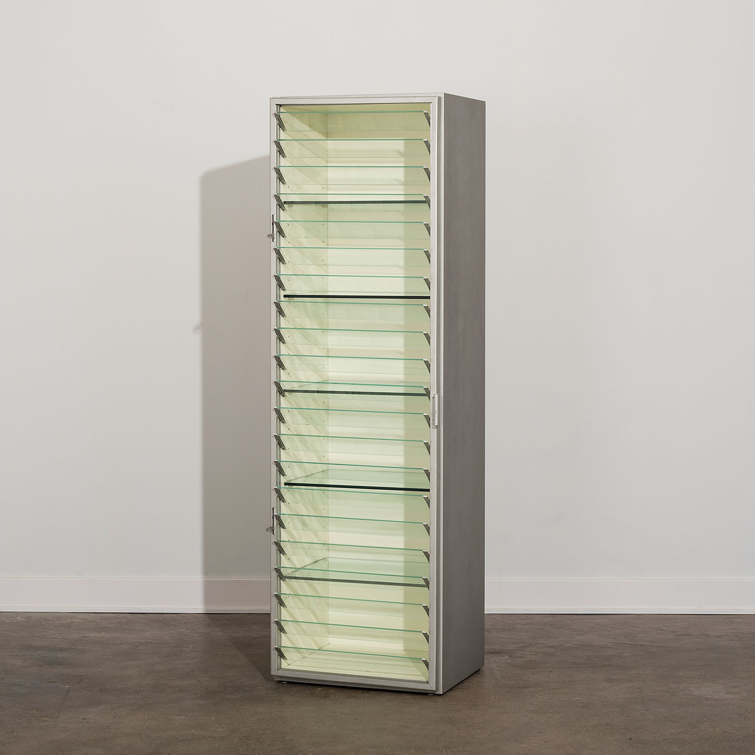 Johanna Grawunder |                                  Cabinet with Clear Glass Louver Front