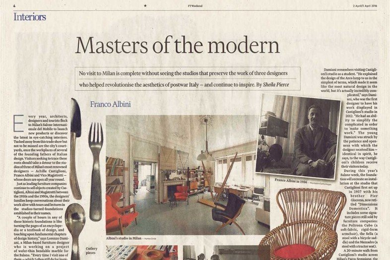 Close up of the article Master of Modern design article