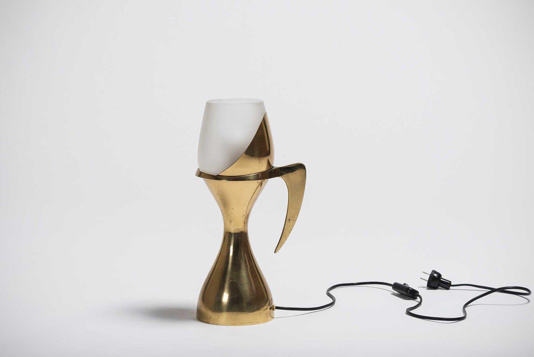 Max Ingrand |                              Brass table lamp