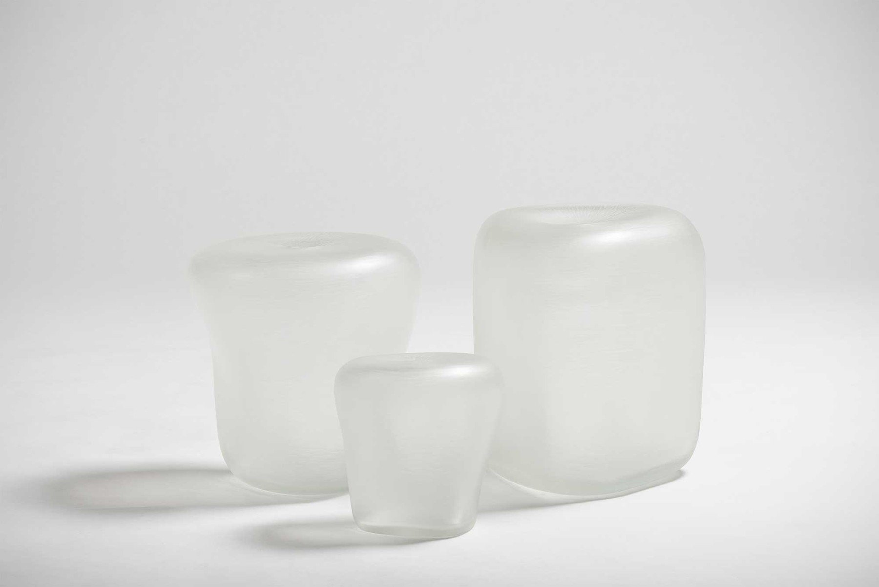 Michela Cattai |   Canneto Laguna - Cristallo glass vases