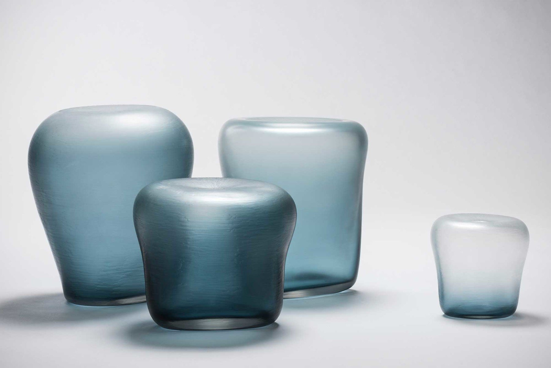 Michela Cattai - Canneto Laguna - Oceano glass vases