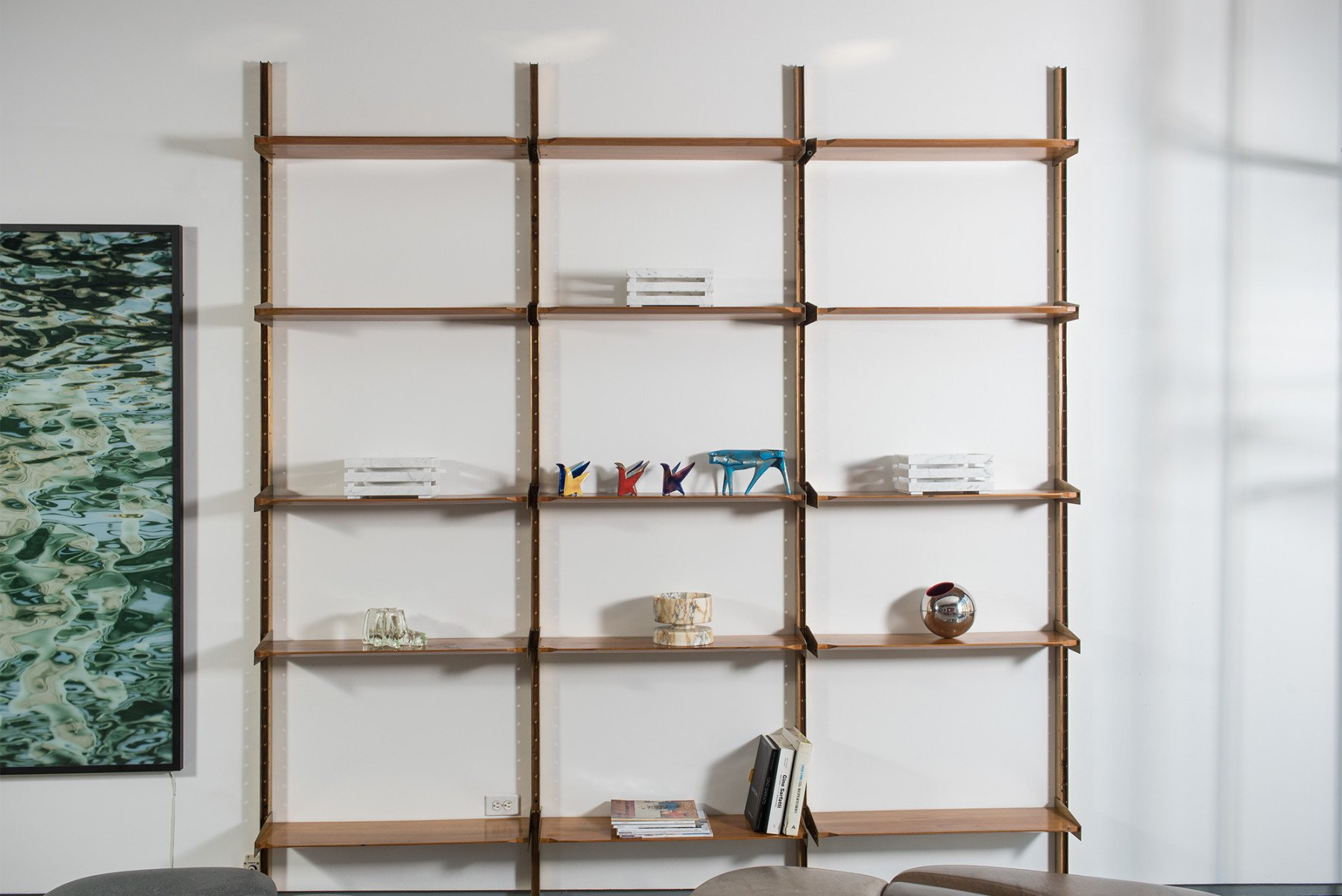 Pierluigi Spadolini |                              Modular Shelving System/bookcase - Attributed to Pierluigi Spadolini