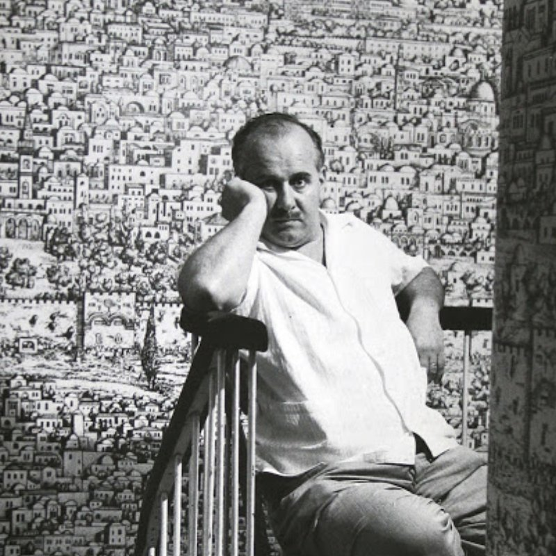 Piero Fornasetti. Italian painter, sculptor, decorator and craftsman