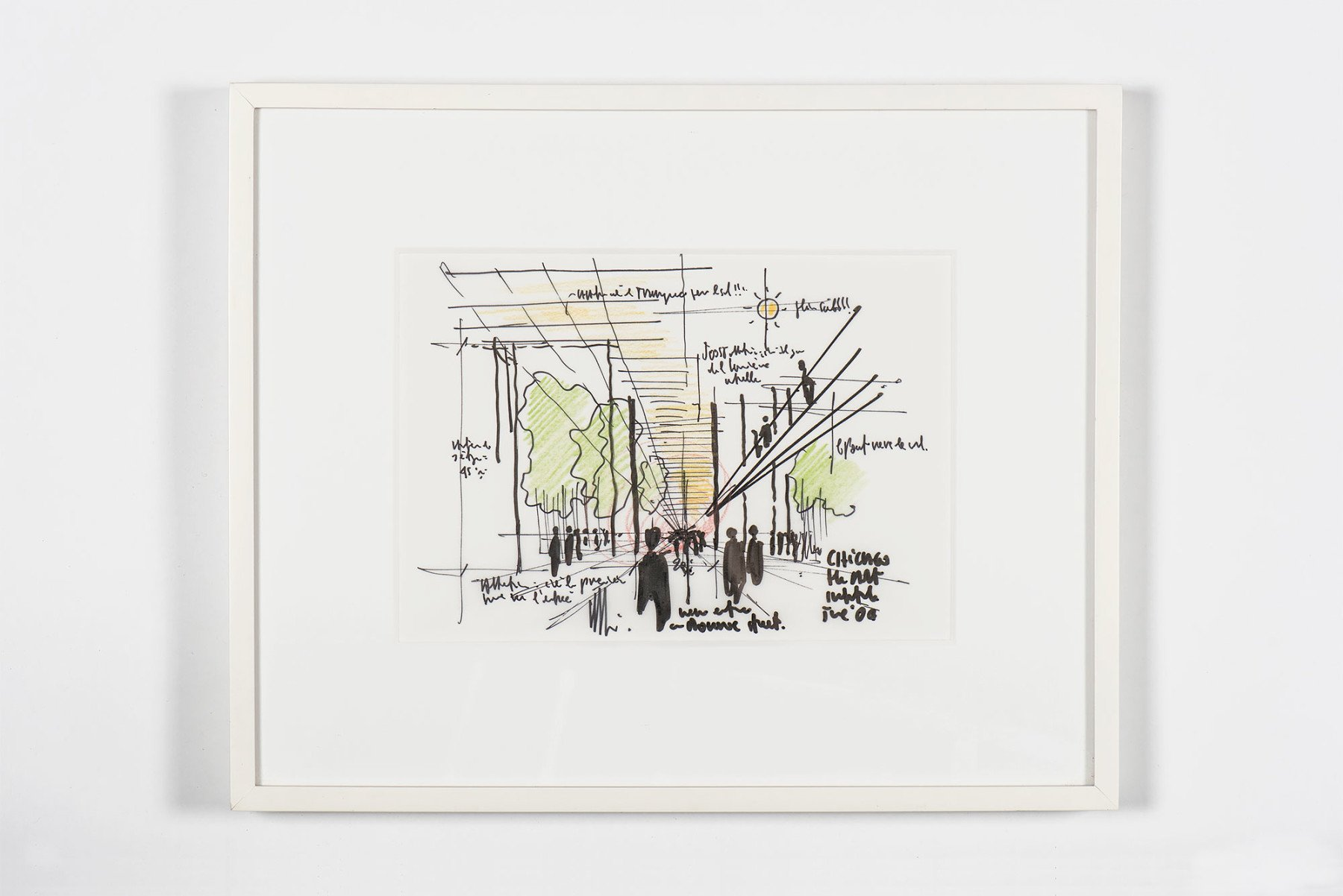 Renzo Piano |   Drawing - The Chicago Art Institute