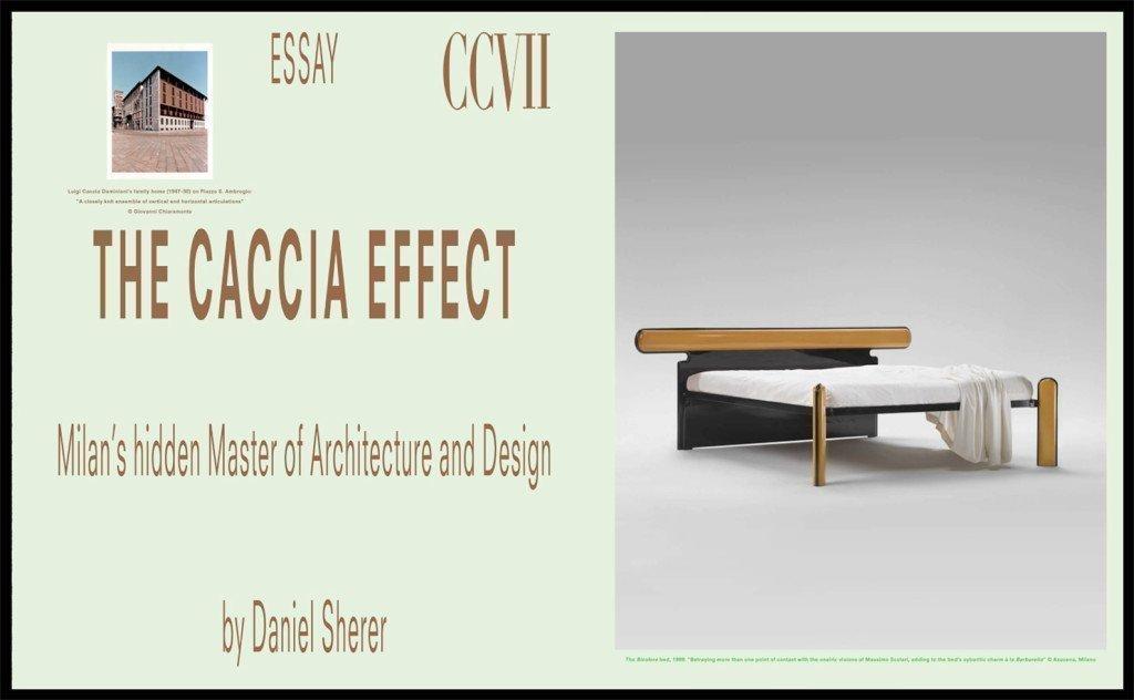 The Caccia effect by Danie Sherer about Luigi Caccia Dominioni