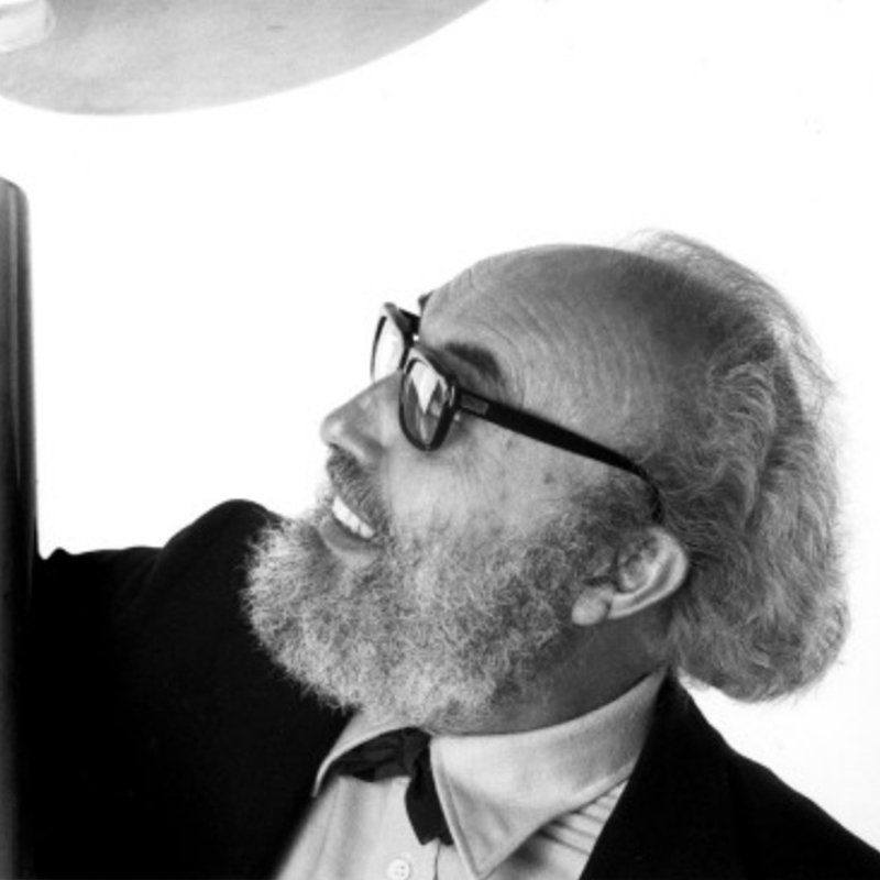 Profile portrait of Italian designer and architect Angelo Mangiarotti