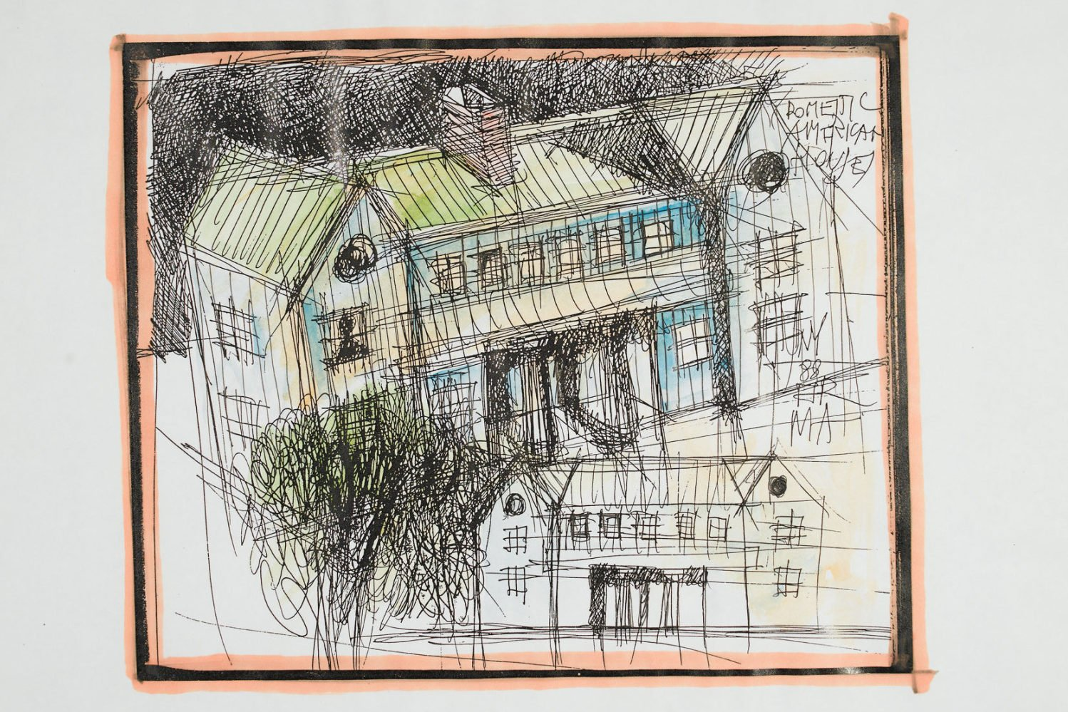Aldo Rossi |   Drawing - Domestic American House
