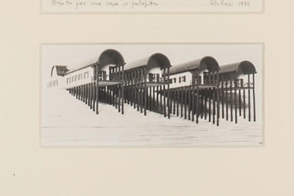 Aldo Rossi |   Drawing - 'Project for a pile dwelling'