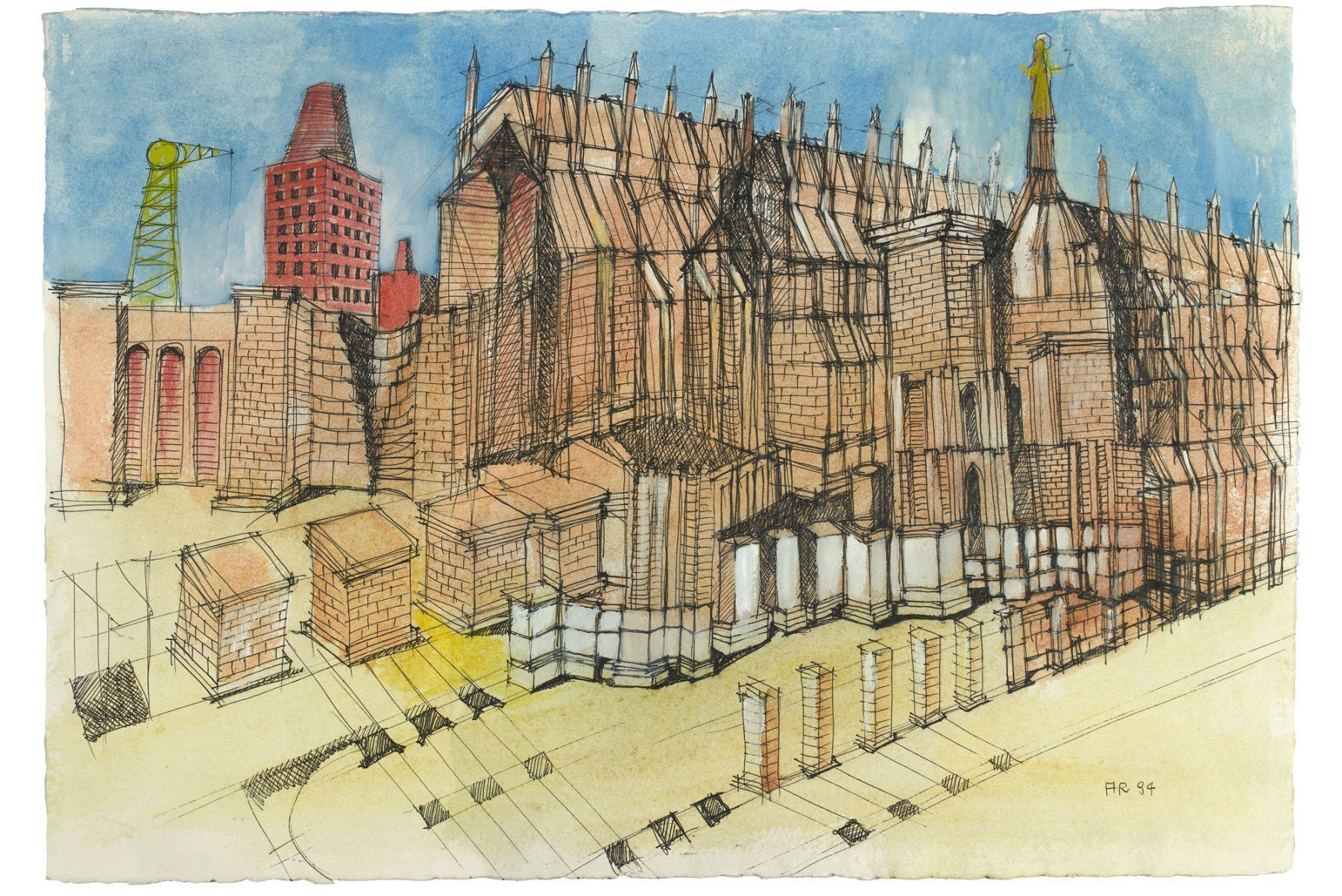 Aldo Rossi Untitled 1994 architectural drawing