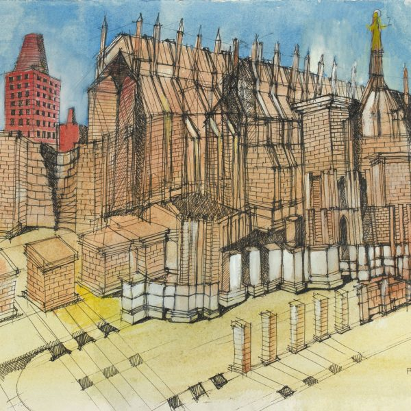 Aldo Rossi |  Drawing - Untitled 1994