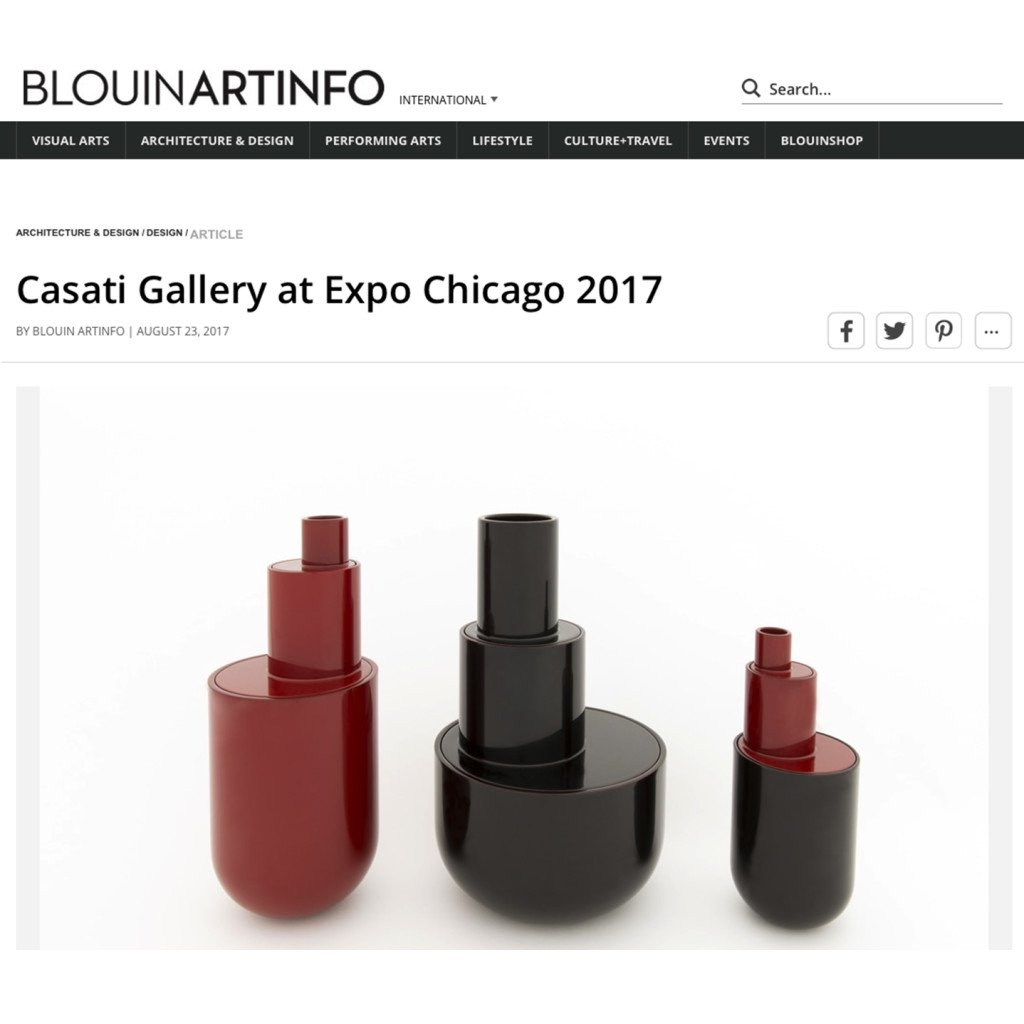 Blowinartinfo article on Casati Gallery at Expo 2017