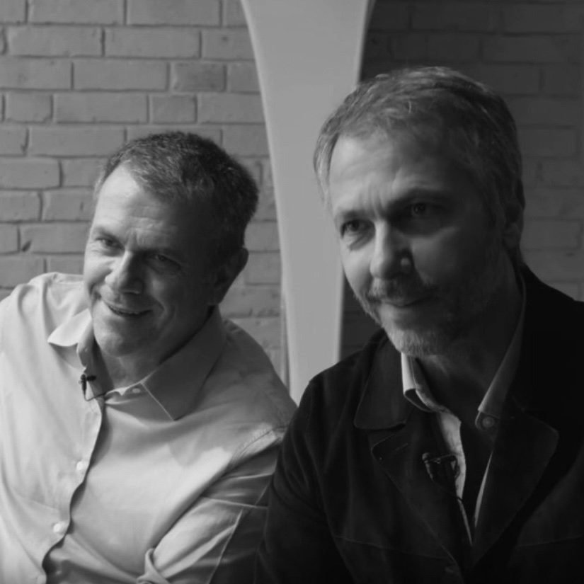Brazilian designers Campana Brothers Fernando and Humberto Campana sitting down for an interview - design and furniture gallery Casati Gallery