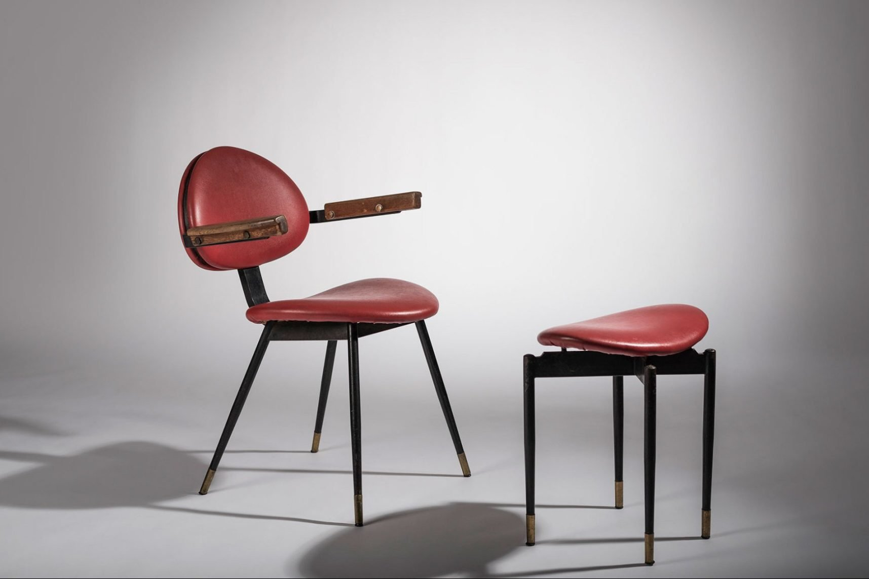Carlo Mollino |   Chair and ottoman