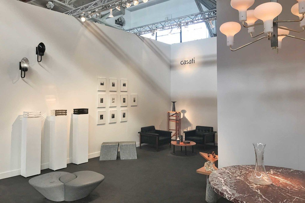 Detail of the booth of Casati Gallery at FOG show