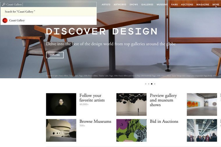 Casati gallery on Artsy.net