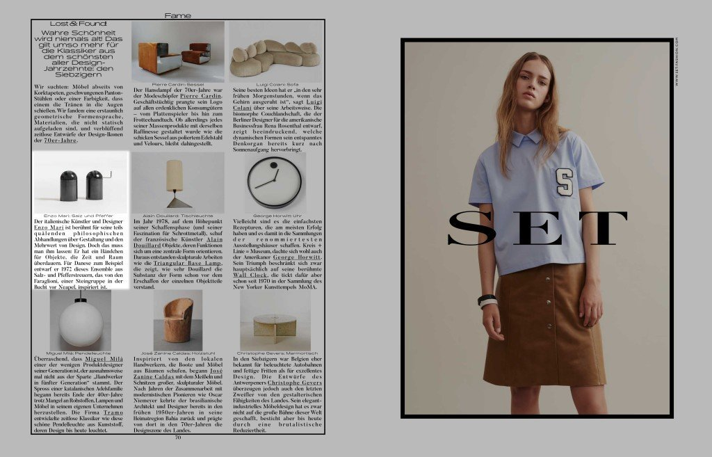 Enzo Mari Objects Featured in Interview Magazine, Germany