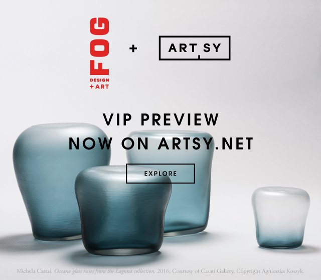 Casati Gallery at FOG show with Murano Glass