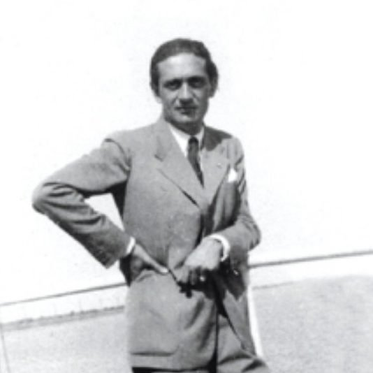 Portrait of Italian architect and designer Guglielmo Ulrich