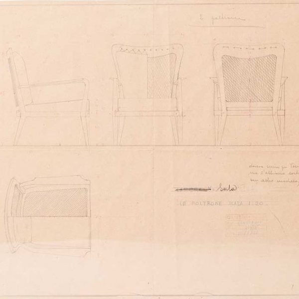 Ico Parisi |                                  Armchair drawing