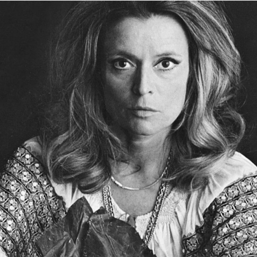 1970 frontal face picture of Italian designer Gabriella Crespi