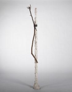 Italian artist Paolo Icaro Innesto bronze and fig branch sculpture