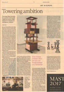 Financial Times Design Section featuring Casati Gallery at Miami Basel 2017