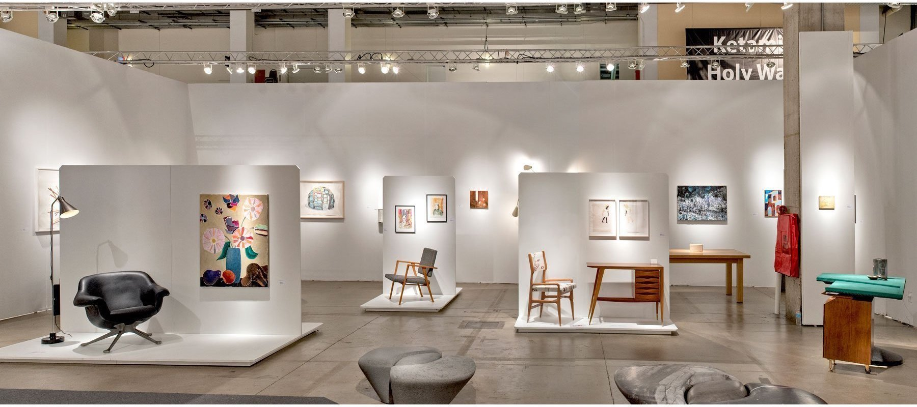 Booth of design and art gallery Casati Gallery at Expo in Chicago