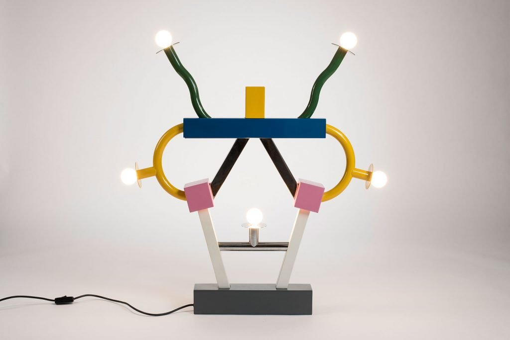 Picture of Ettore Sottsass Ashoka table lamp turned on