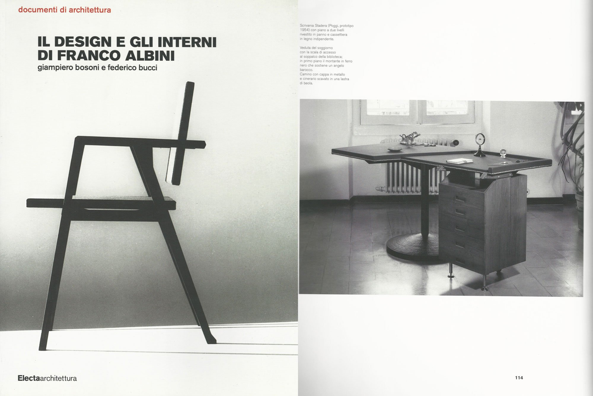 Come Costruire Un Camino franco albini - stadera desk for casa caterina marcenaro