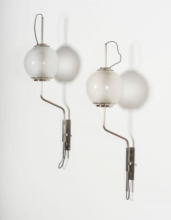 Luigi Caccia Dominioni |  Pallone sconces model Lp 11, pair