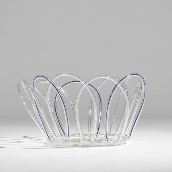 Andrea Branzi |  Violet Canaries - glass basket