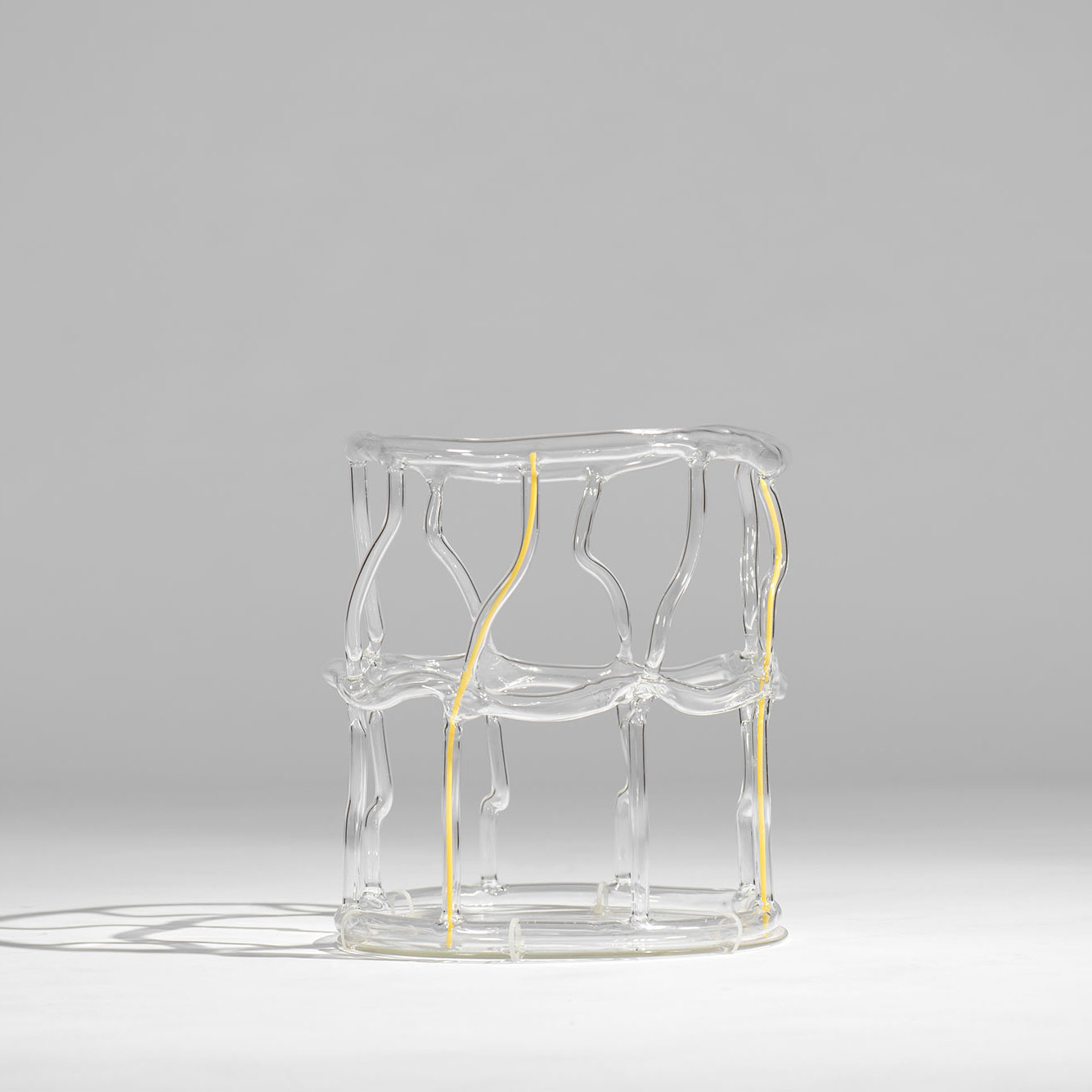Andrea Branzi |                                  Yellow Canaries - glass basket