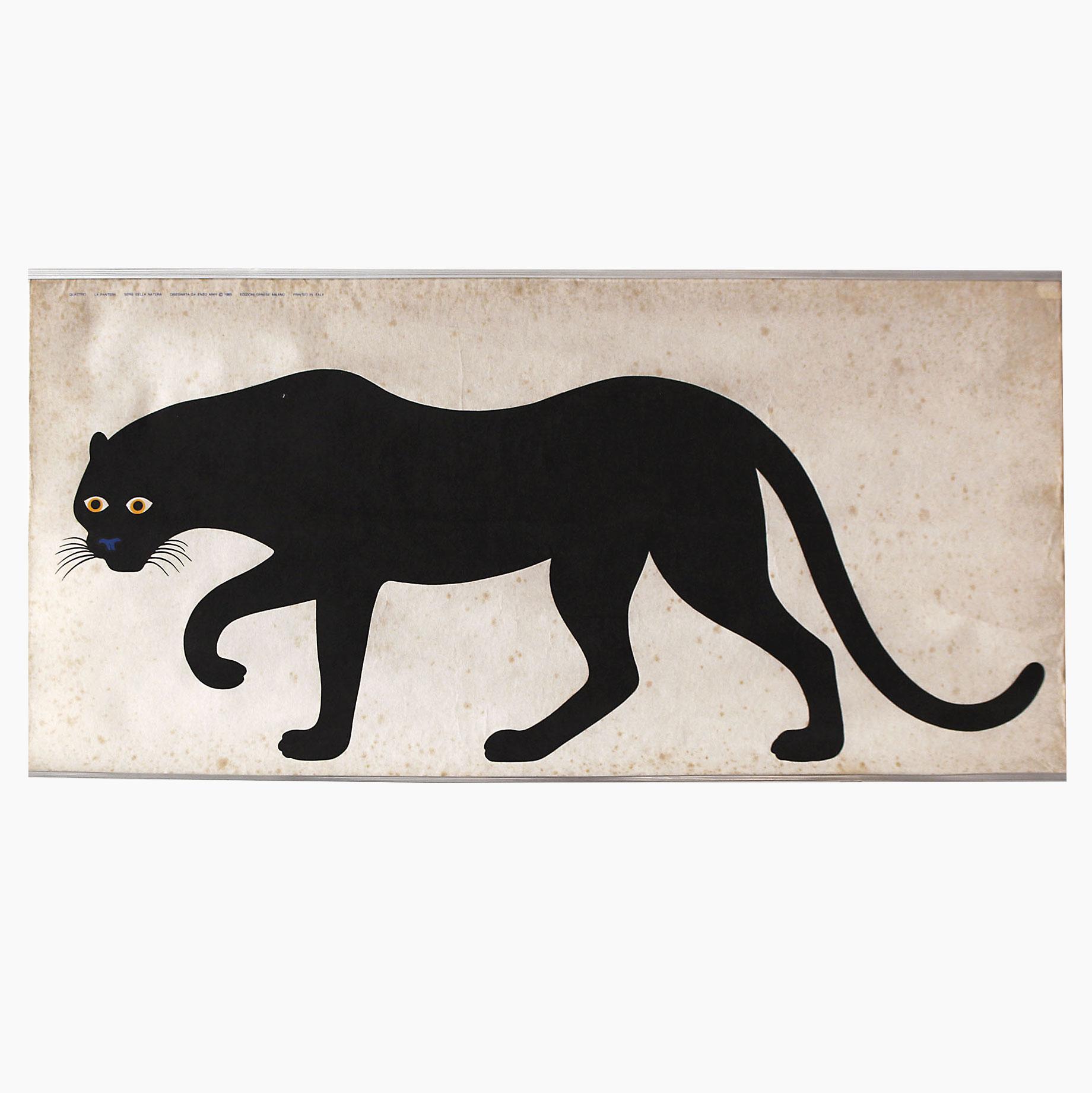 Enzo Mari |                                  La Pantera - Black Panther poster