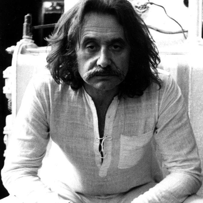 Portrait of Italian architect and designer Ettore Sottsass
