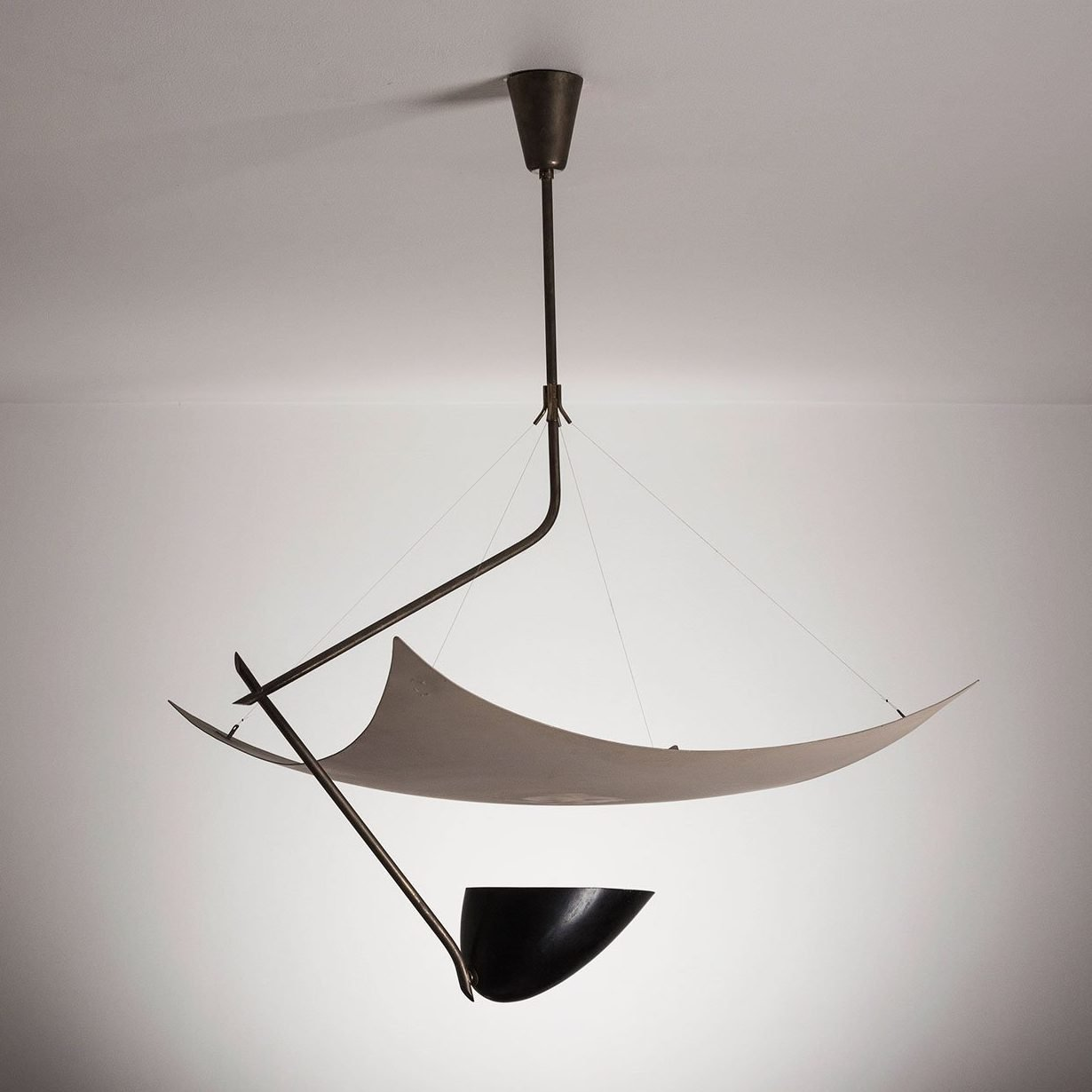 Angelo Lelii ceiling lamp by Arredoluce at Italian furniture and design gallery Casati Gallery