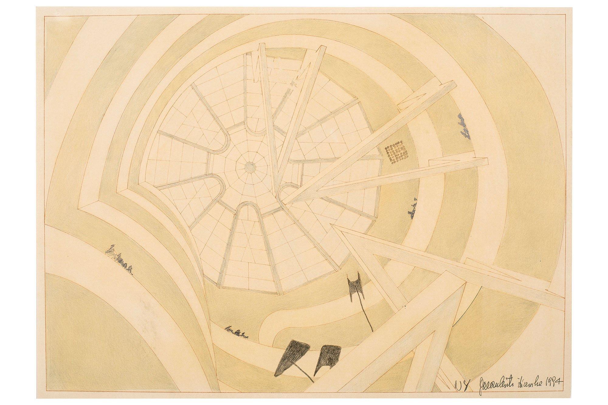 Gae Aulenti  |                              Sketch from The Italian Metamorphosis