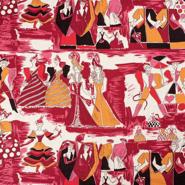 Gio Ponti  |  Balletto Alla Scala fabric - burgundy