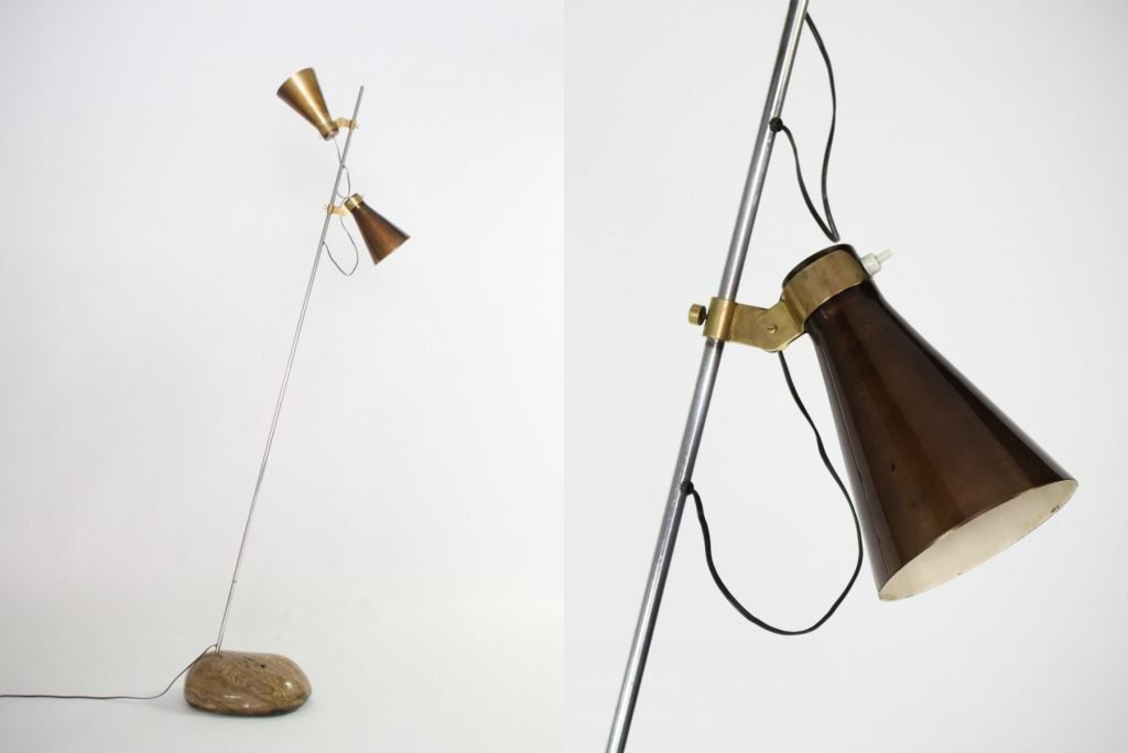 Sasso lamp designed by Luigi Caccia Dominioni for Azucena