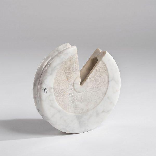 Sergio Asti  |                                  White marble vase