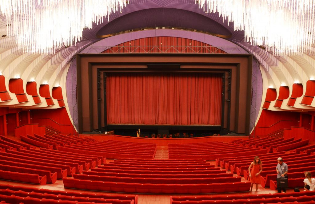 Interior of Teatro Regio in Turin