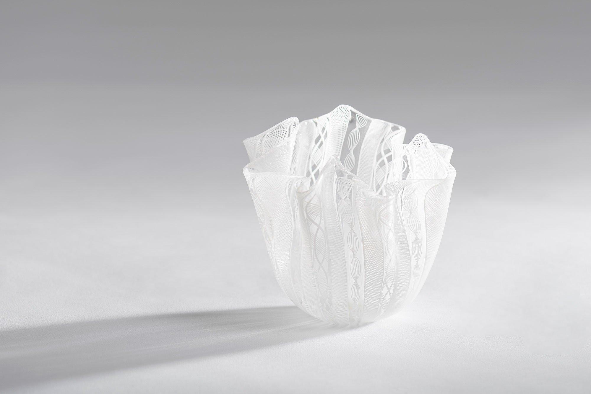 Venini Murano |   Fazzoletti glass vase
