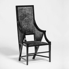Chair by Italian designer Giacomo Cometti at Casati Gallery Black and White photo)