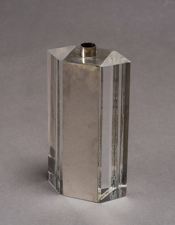 Gabriella Crespi |  Silver plated and lucite vase