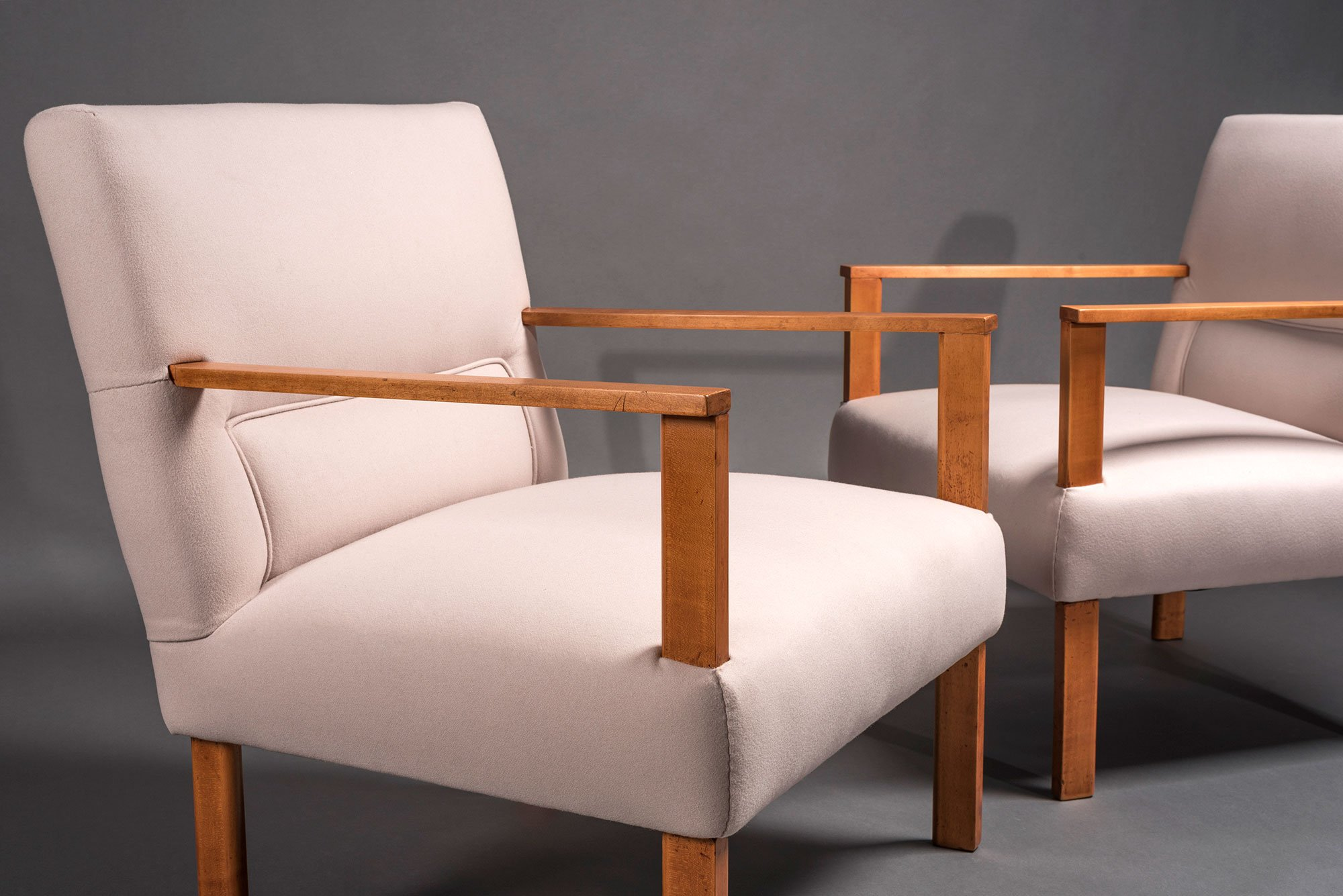 Mario Asnago and Claudio Vender |  Pair of armchairs