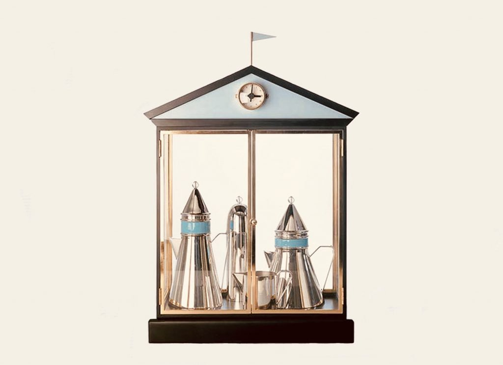 La Cupola coffee set by Aldo Rossi for Alessi