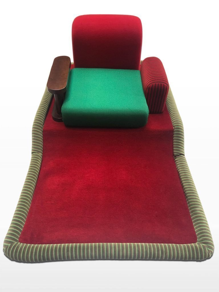 "Flying Carpet or ""Tappeto Volante"" armchair designed by Ettore Sottsass for Bedding Brevetti in 1972"