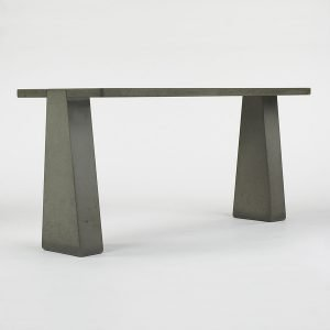 Italian designer Angelo Mangiarotti sandblasted gray 'Pietra Serena