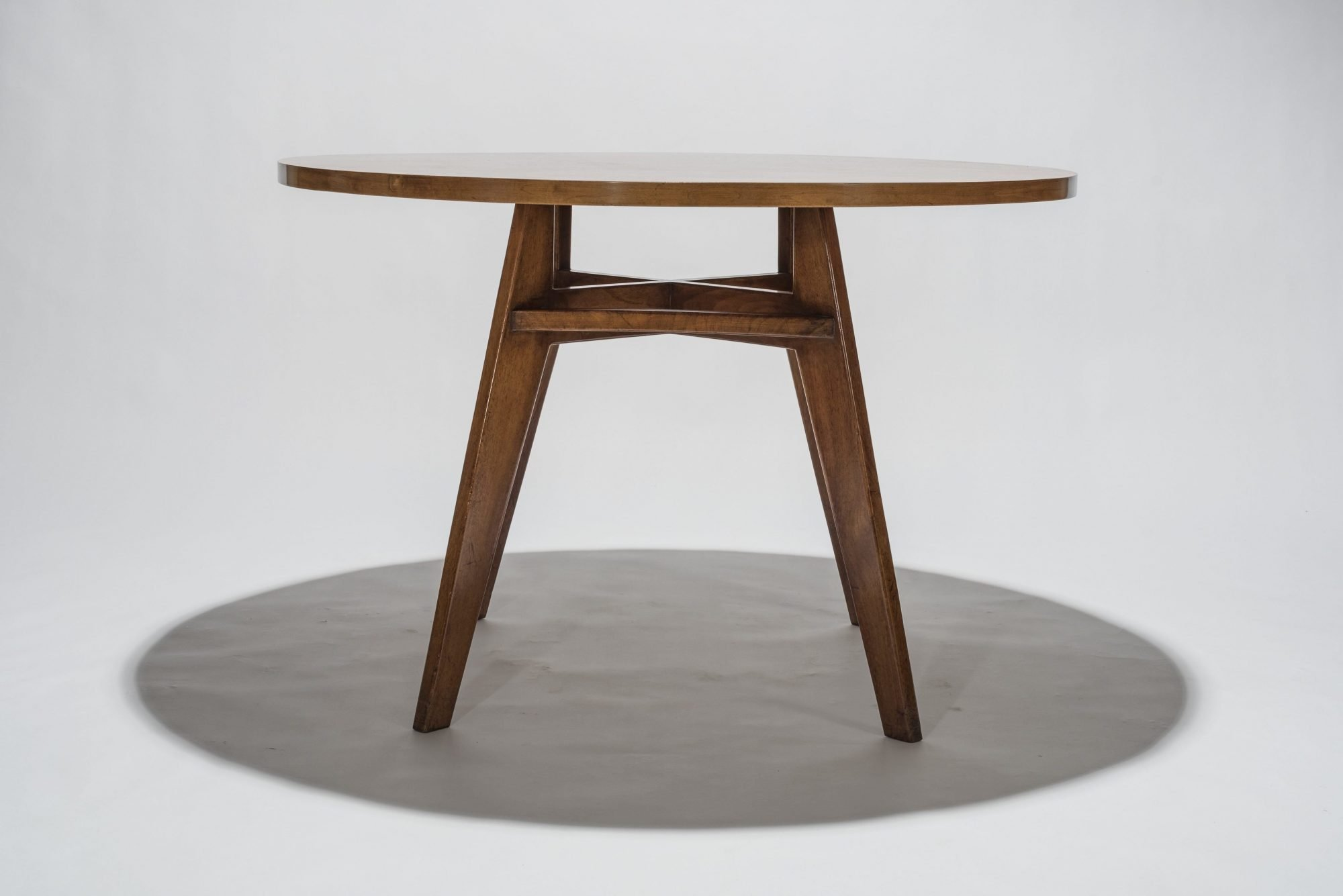 Franco Albini |                              Wood dining table made for a private commission in Milan