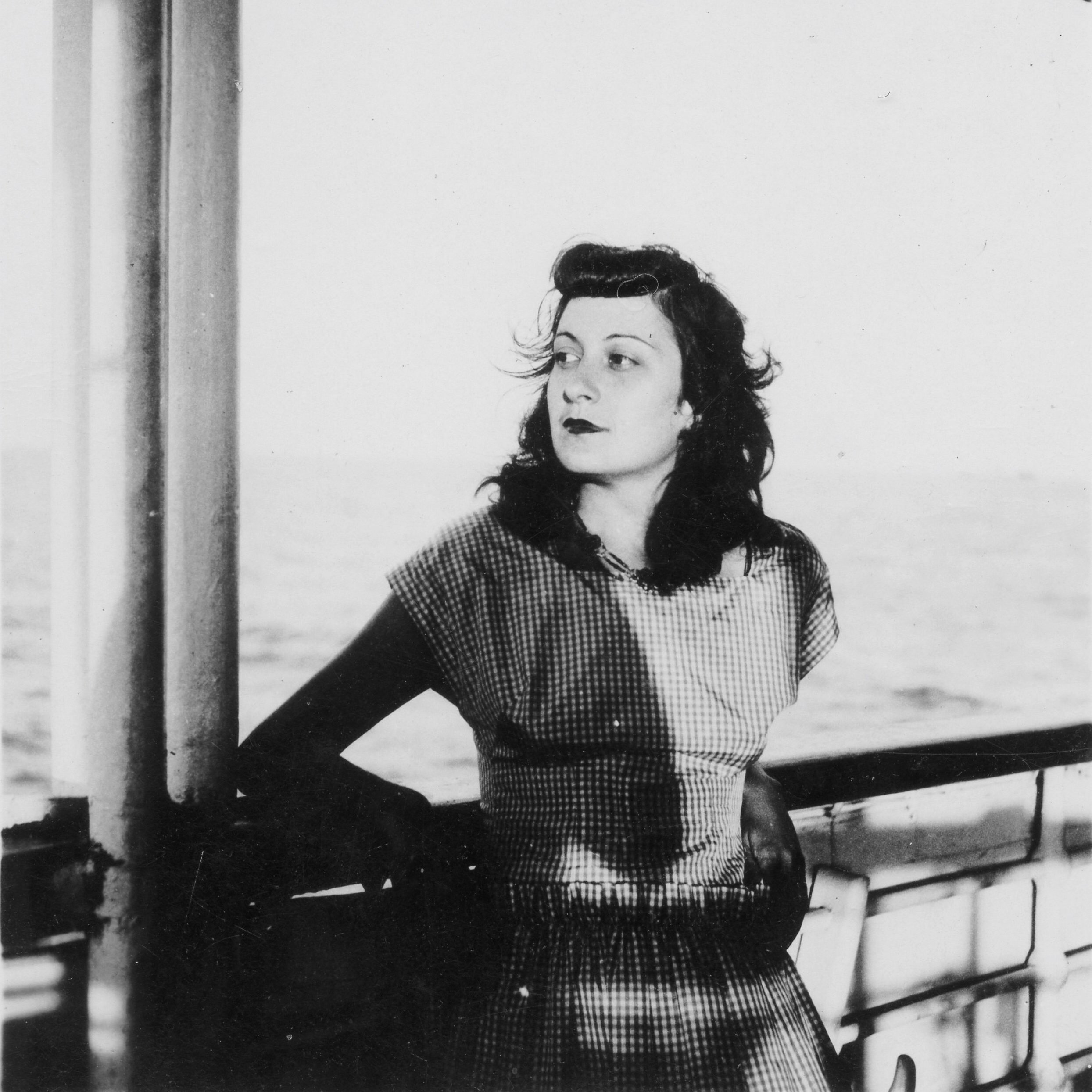 Lina Bo Bardi on the ship Almirante Jaceguay on her way to Brasil in 1946