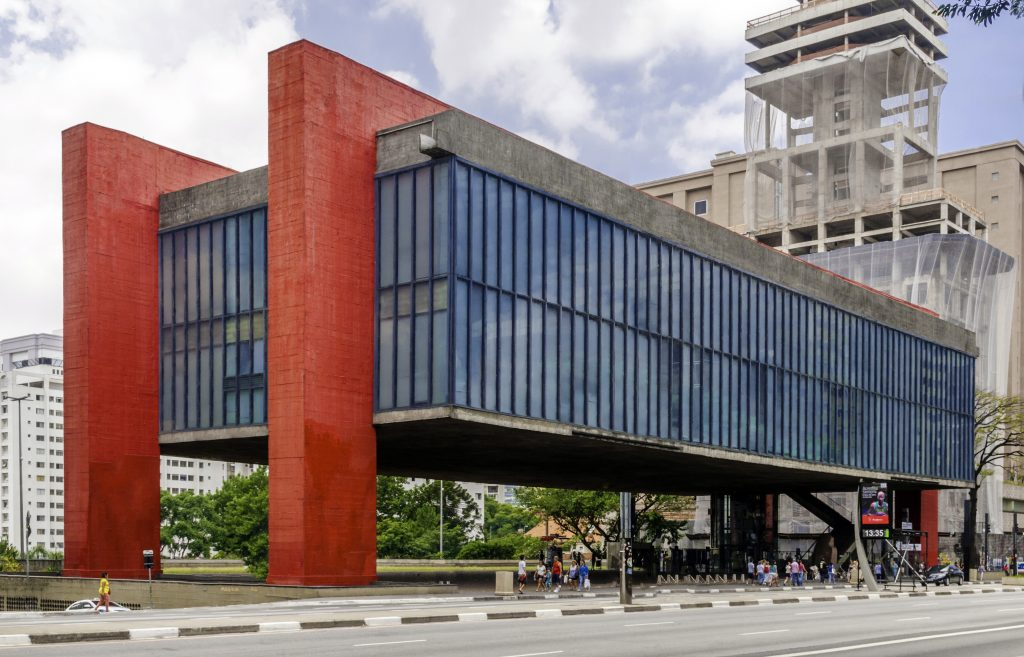 Museum MASP in Säo Paulo, Brazil in the middle of the day